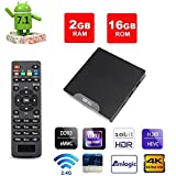 VGROUND W95 Android TV Box with Amlogic S905W Quad-Core, 2GB RAM 16GB ROM, 4K UHD, Built-in Wi-Fi & LAN VP9 DLNA H.265