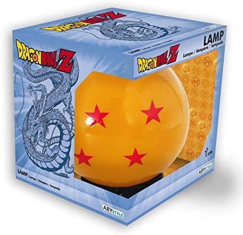 Dragon Ball 3D LED Mood Light Crystal Ball oranjezwart kunststof met USBaansluiting in geschenkdoos