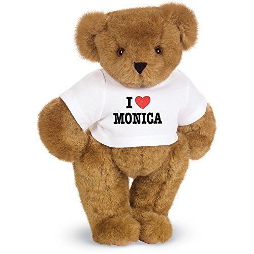 Vermont Teddy Bear I Heart You Personalized T-Shirt Bear, 15 inches, Custom