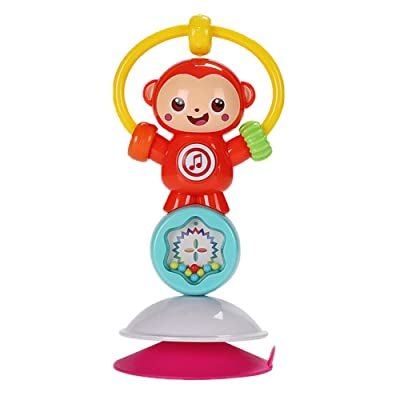 MINI Boutique Spin Baby Rattle Toy with Light Music Suction Cup High Chair Toy Developmental Tray Toy for Early Learning for Ages 6 Months and Up: Home & Kitchen