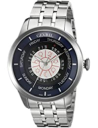 Columbus Circle Mens Swiss Automatic Silver Stainless Steel Bracelet Watch, (Model: 2000B)