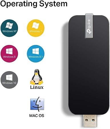 TP-Link Archer T4U AC1300 - Adaptador USB Inalámbrico de Doble Banda para Wi-Fi