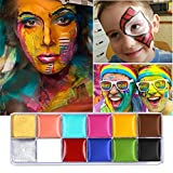 ELEVEN EVER Face Body Paint 12 Flash Colors case Halloween Party Fancy Dress Tattoo Oil Painting Art Beauty