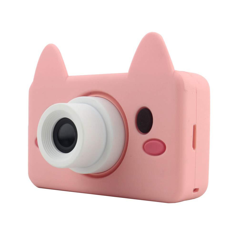 キッズデジタルビデオカメラ2.0 インチ8メガピクセルマイクロ Usb 充電式子供アンチドロップカメラ男の子のための最高のギフト B07MR9MKMY Pink