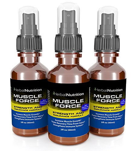 #1 Rated MUSCLE FORCE Strength and Endurance Spray! | Three Bottle Pack! | 200mg Proprietary Growth Formula | Improve Strength and Recovery | 2oz. Spray Bottle | 90-Day Supply | Free Shipping