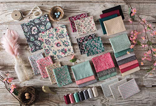 Connecting Threads Print Collection Precut Quilting Fabric Bundle (Jardin de Nicolette - Fat Quarters) by Connecting Threads (Image #7)