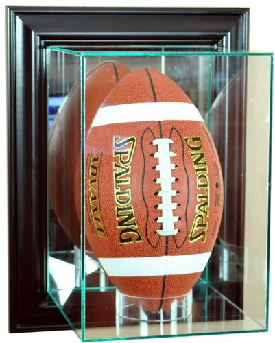 ec7afa7a Amazon.com : Wall Mounted Upright Football Glass Display Case with ...