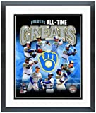 """Milwaukee Brewers All Time Greats Photo 12.5"""" x 15.5"""" Framed"""