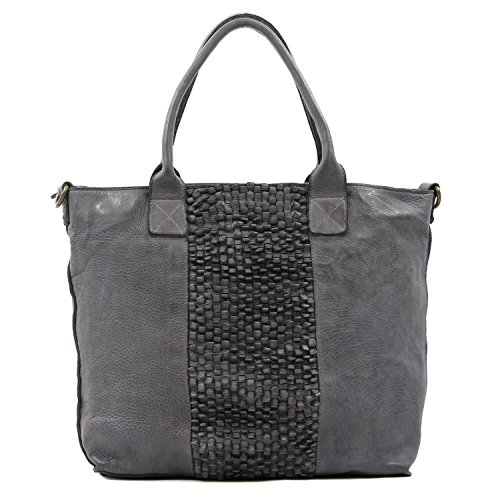 old-trend-leather-tote-grass-blade-handbag-grey