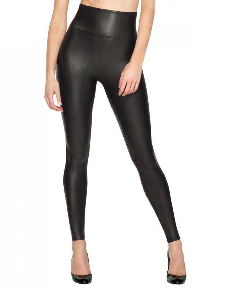 SPANX Ready-to-Wow Faux Leather Leggings, XL, Black