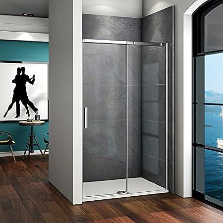 Porte de douche coulissante 140x190cm en niche porte de douche AICA