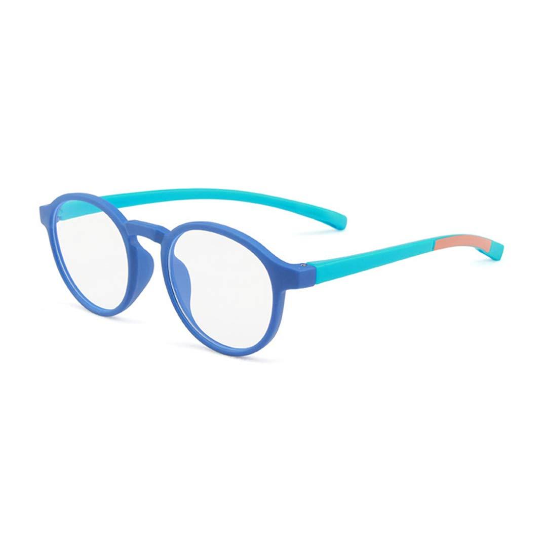 Brillen ohne Grad Jungen M/ädchen Anti blaulicht Anti Rutsch Brillen Anti UV TR90 Brillengestell das Auge des Kindes Sch/ützen Brille