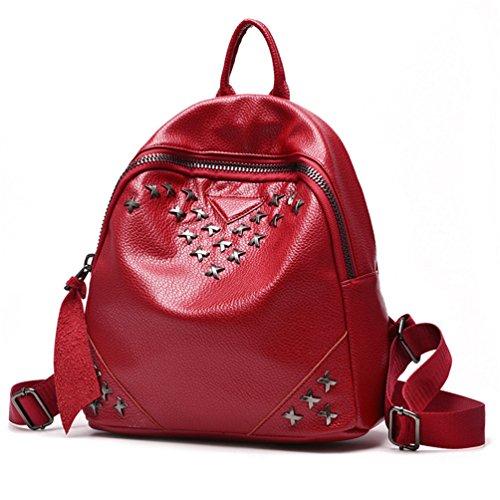 18876b3b27 Rosso Auspicious Delle Con Daypack Beginning Vino Scolastico Donne  Trasversale Metallo In Stampa X qCq1g7rnt