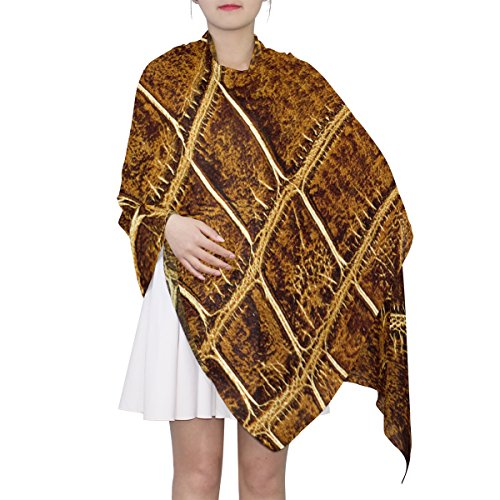 (Women's Scarf Silk Scarf Blanket Lightweight Scarves Fashion Neck Scarf Poncho with Crocodile Skin Pattern Shawl Wrap 70