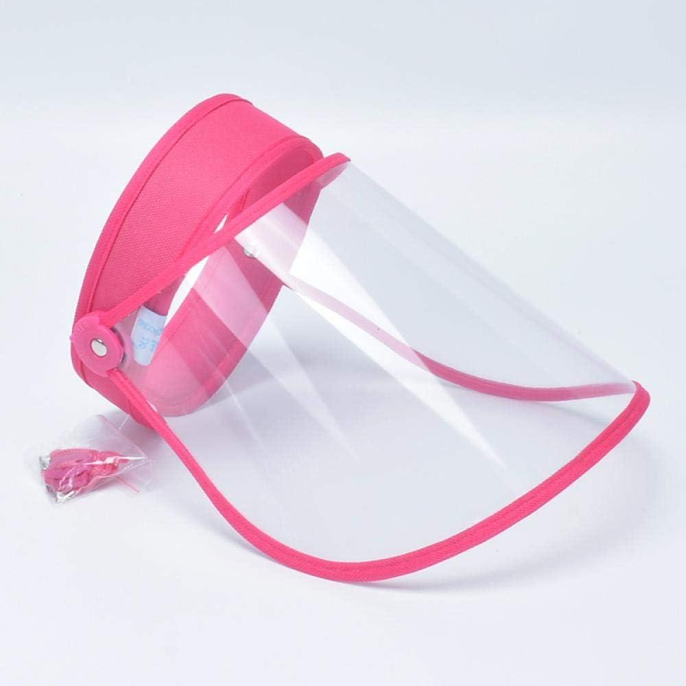 azul sombrero de copa vac/ía m/áscara de seguridad transparente M/áscara facial creativa a prueba de salpicaduras de aceite
