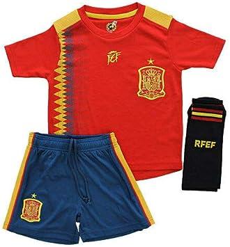 SELECCION Mini Kit Española 1a equipacion Mundial 2018 (4): Amazon.es: Deportes y aire libre