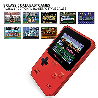 My Arcade Pixel Classic - Handheld Gaming System - 300 Retro Style Games Plus 8 Data East Classics - Lightweight Compact Size - Battery or Micro USB Powered - Full Color Display - Headphone Jack: Video Games
