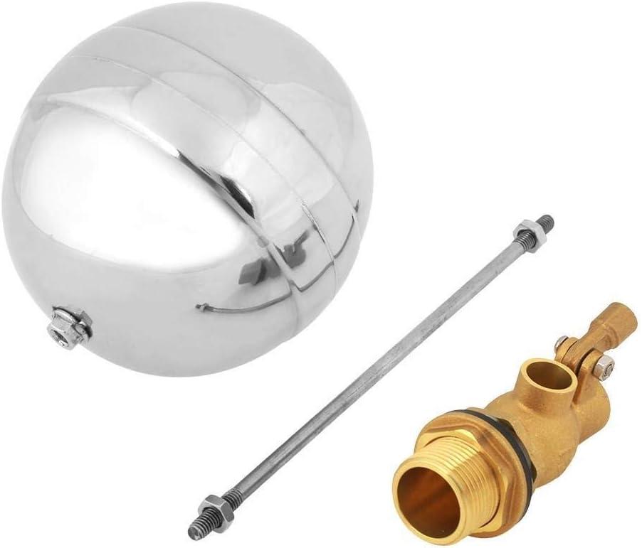 Nologo Enrilior G3//4 DN20 Male Thread Water Sensor Float Adjustable Stainless Steel Floating Ball