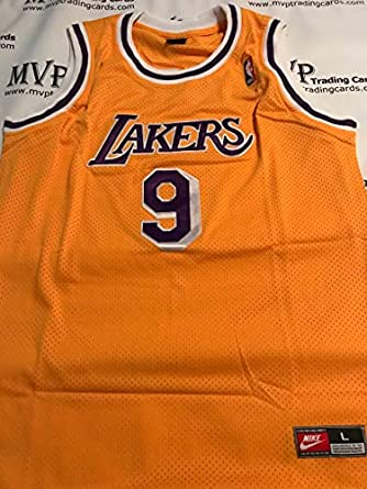 d32b5954702 ... best price nick van exel gold throwback los angeles lakers mens size  large jersey 518f0 76e1f