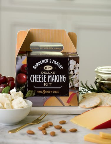 Cheddar Cheese Making - Deluxe Cheese-Making Kit Makes Farmhouse cheddar, Gouda, Colby, MontereyJack, Cottage, Feta, Ricotta and Parmesan