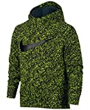 Nike Big Boys (8-20) Dri-Fit Therma Pullover Training Hoodie-NeonYellow/Black-XL