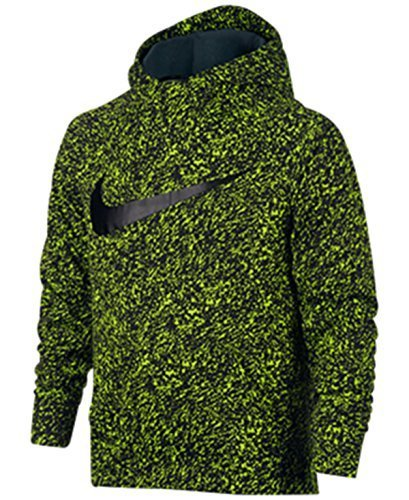 Nike Big Boys (8-20) Dri-Fit Therma Pullover Training Hoodie-NeonYellow/Black-XL by NIKE