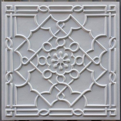 PLASTFILM Pl09 Faux Tin 3D Ceiling Tiles White Matt Embossed Photosgraphie Background Decorative Wall Panels 10pieces lot