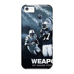 Shock Absorption Hard Phone Cases For Iphone 5c With Custom Colorful Indianapolis Colts Series KevinCormack
