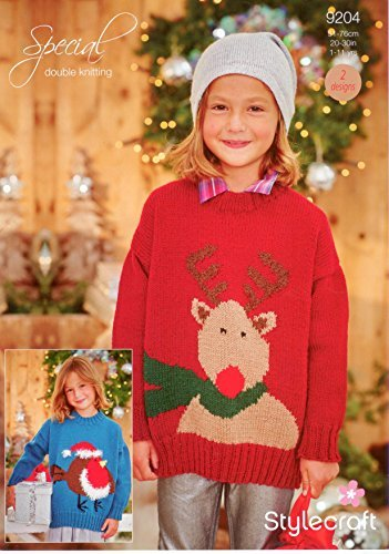 Amazon Stylecraft 9204 Knitting Pattern Leaflet Childrens