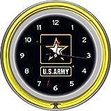 Ejército de los Estados Unidos cromado Doble Anillo Reloj de neón, 35,6cm