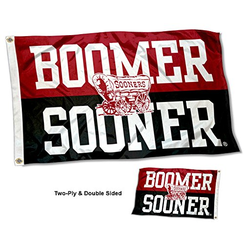 College Flags and Banners Co. Oklahoma Sooners Boomer Sooner Double Sided Flag