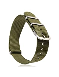 20mm Military Nylon Wrist Watch Band Strap F Watches Stainless Steel Buckle
