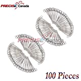 PRECISE CANADA: SET OF 100 SELF-LOCKING SPONGE FORCEPS CURVED 7'' BODY PIERCING STAINLESS STEEL
