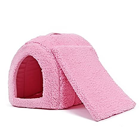 Súper Cálido Acogedor Durable Cama para Perro Gato Caverna Cama Peludo Perrera Casa para Perros Iglú