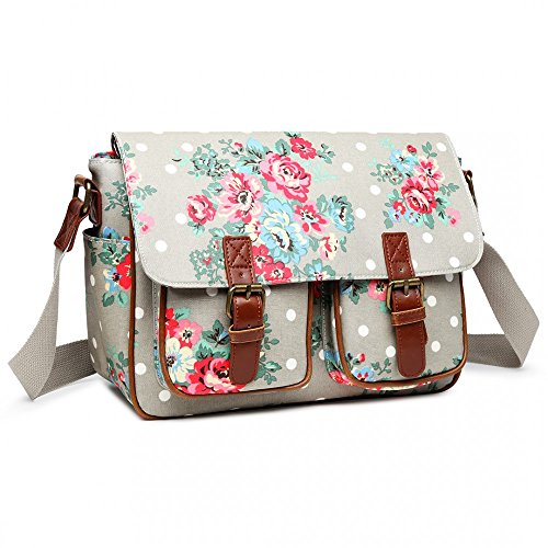 Satchel White Oilcloth amp; Handbag Dot amp; Polka Grey Floral Spot Fashion Matte Ladies 5vwdqS8p
