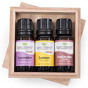 Plant Therapy Top 3 Singles Essential Oil Set 100% Pure, Undiluted (Lavender, Lemon and Frankincense Serrata; 10 mL each)