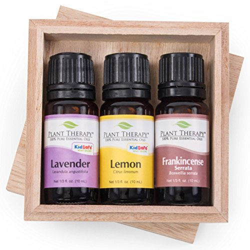 Single Perfume Oils (Plant Therapy Top 3 Singles Essential Oil Set. 100% Pure, Undiluted, Therapeutic Grade. Includes: Lavender, Lemon and Frankincense Serrata. 10 ml (1/3 oz) each.)
