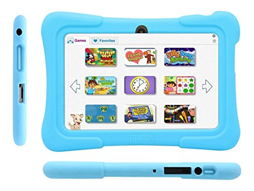 Dragon Touch 7″ Android Kids Tablet – Blue Silicone Case