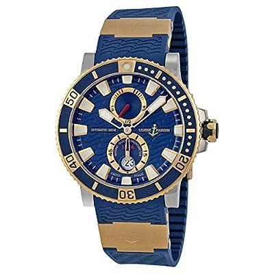 Ulysse Nardin Maxi Marine Diver Blue Dial 18kt Rose Gold Titanium Mens Watch 265-90-3-93