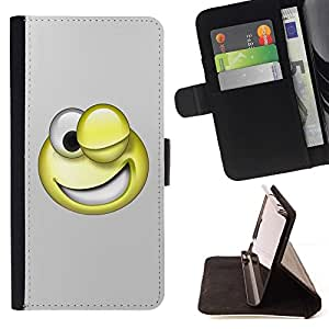 BETTY - FOR Sony Xperia Z1 L39 - 3D Funny Smiley - Style PU Leather Case Wallet Flip Stand Flap Closure Cover