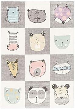 Happy Animals color/é 5 tama/ños Pergamon Maui Kids Alfombra Infantil