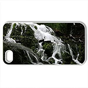 Dunnings Springs 6-2-2012 - Case Cover for iPhone 4 and 4s (Waterfalls Series, Watercolor style, White)