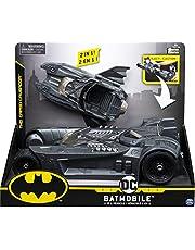 dc comics BATMAN Batmobile en Batboat 2-in-1 transformerend voertuig, Grijs, 18.42 x 35.56 x 30.48