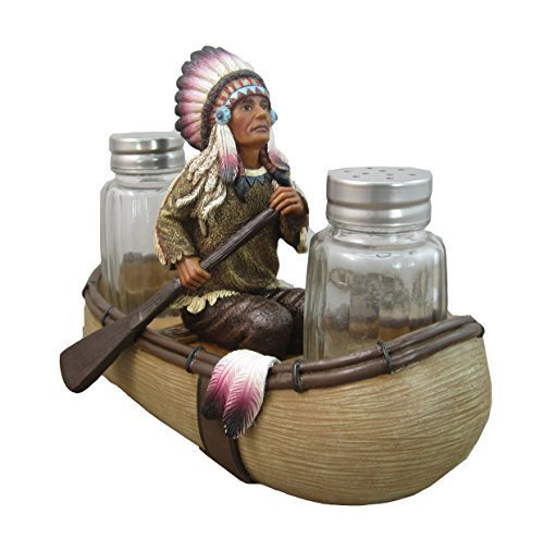 Native American Salt and Pepper Shaker Set By - American Native Home