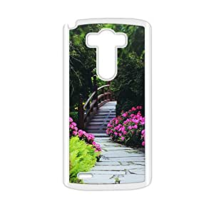 Flowers Park White Phone Case for LG G3