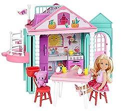 Barbie Club Chelsea Playhouse Playset & Her Teddy Bear