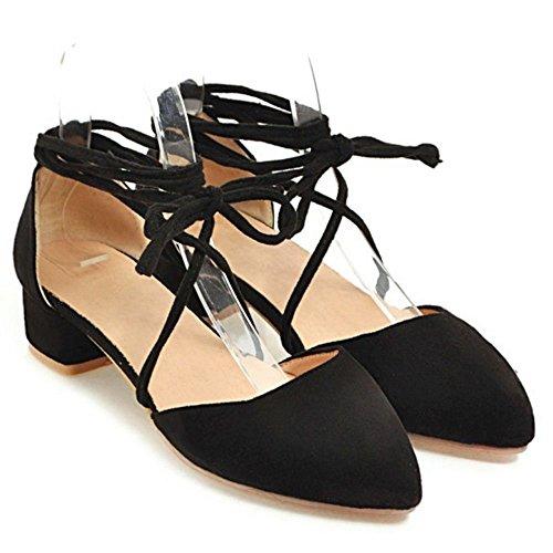 Ete 5 Chaussures Black Afh60x Femmes Lacets Printemps Taoffen 1FUwqIf4