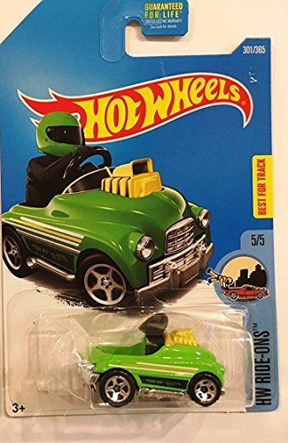 Hot Wheels 2017 HW Ride Ons Pedal Driver 301/365, Neon Green