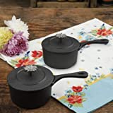 The Pioneer Woman Timeless Beauty Mini Preseason Plus Cast Iron Sauce Pans, Set of 2