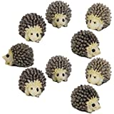 Windspeed 10pcs Miniature Hedgehog Gardening Potted Decoration Micro Landscape Accessories